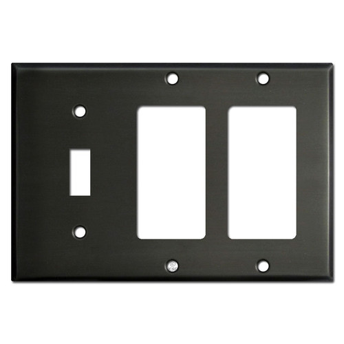 Double Decora Single Toggle Light Switch Plate - Dark Bronze