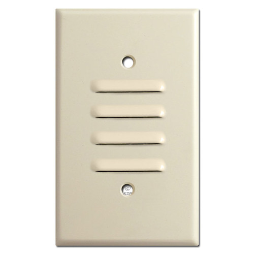 1 Gang Vertical Louvered Wall Plate - Ivory