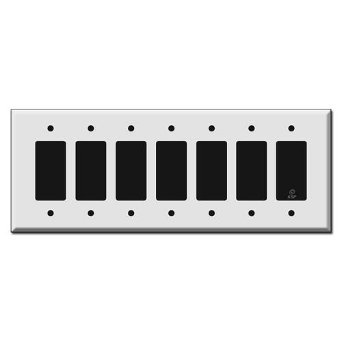 Oversized 7 Gang Decora Switch Plate
