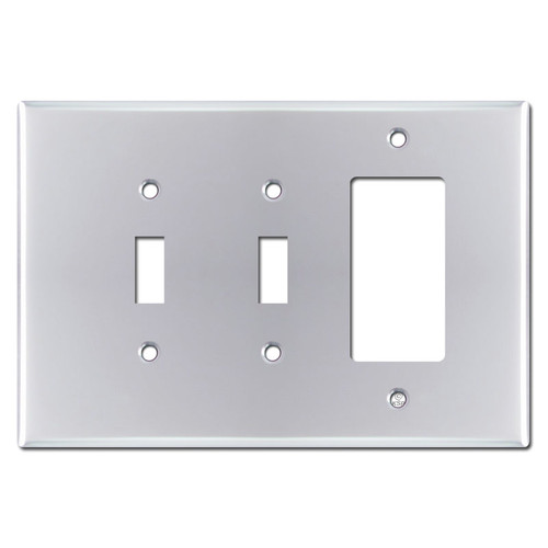 Oversized 1 Decora 2 Toggle Light Switch Plate - Polished Chrome