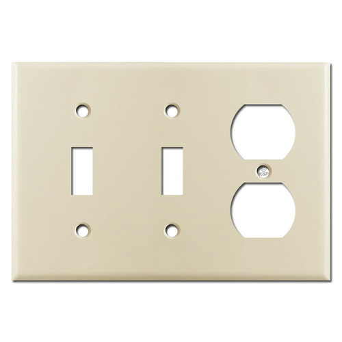 2 Toggle Duplex Switch Plate - Ivory