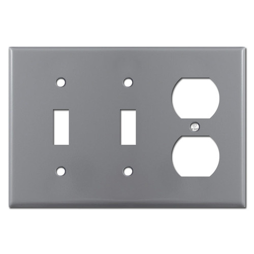2 Toggle Outlet Cover - Gray