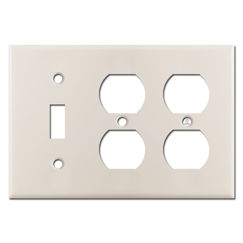 1 Toggle 2 Duplex Wall Plate - Light Almond