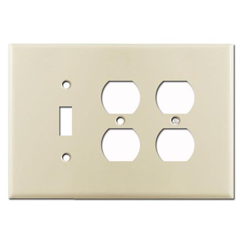 Jumbo 1 Toggle 2 Duplex Wall Plate - Ivory