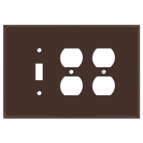 Oversized Toggle and Double Outlet Switch Plates - Brown