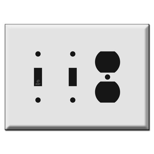 Oversized 2 Toggle 1 Outlet Switch Plate