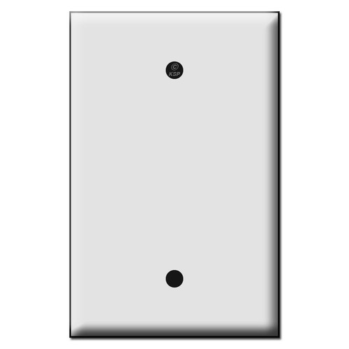 Quality Single Blank Plastic Mid Size Switch Plates