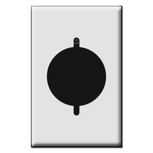 Quality Dryer or Range Outlet Plastic Mid Size Wall Switch Plates