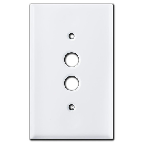 1 Push Button Wall Plates - White