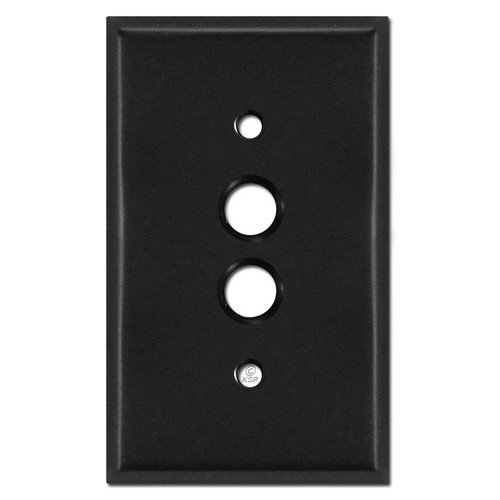 1 Gang Push Button Light Switch Covers - Black