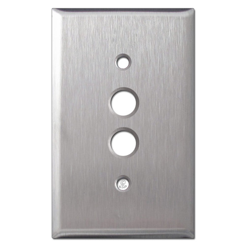 One Gang Push Button Wall Plates - Satin Stainless Steel