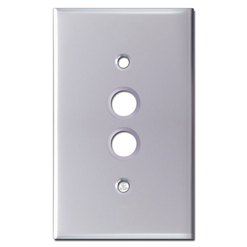 One Push Button Switch Plates - Polished Chrome