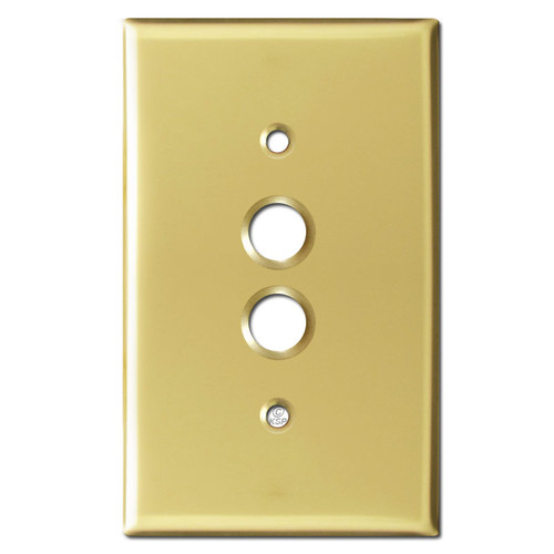 One Push Button Wall Switch Plates - Polished Brass
