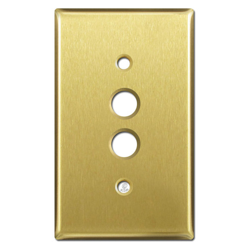Single Push Button Switchplate Covers - Satin Brass