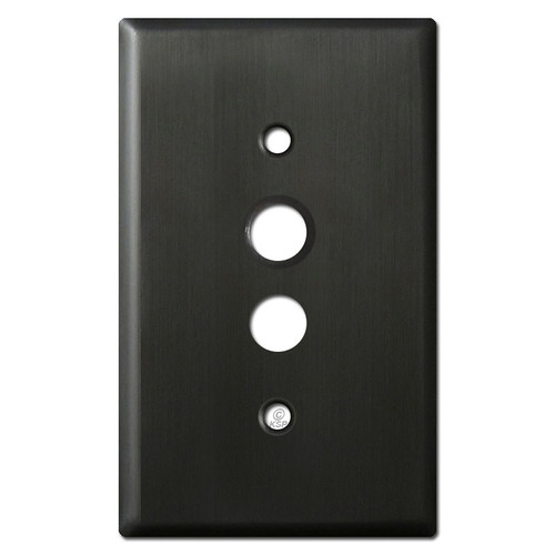 One Push Button Wallplate Covers - Oil Rubbed Bronze