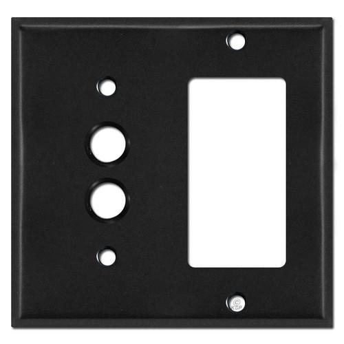 Single Push Button Single Decora Switch Covers - Black