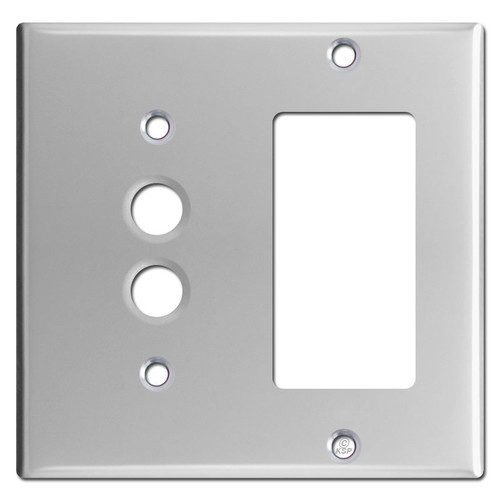 One Decora Switch One Push Button Switch Plate Cover - Polished Chrome