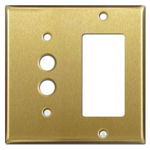 1 Decora 1 Push Button Light Switchplates - Satin Brass