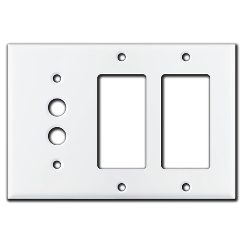 1 Pushbutton 2 Decor Receptacle Cover Plate - White