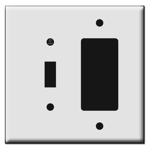 1 Toggle 1 Decora Rocker Plastic Mid Size Wall Switch Plates