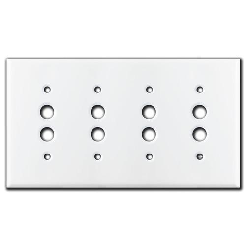 4 Pushbutton Wall Plates - White