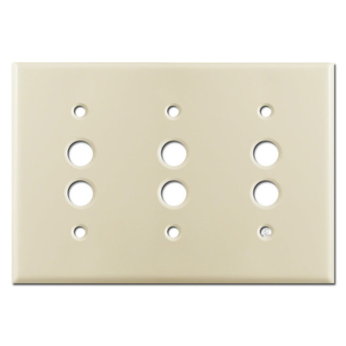 3 Push Button Switch Covers - Ivory