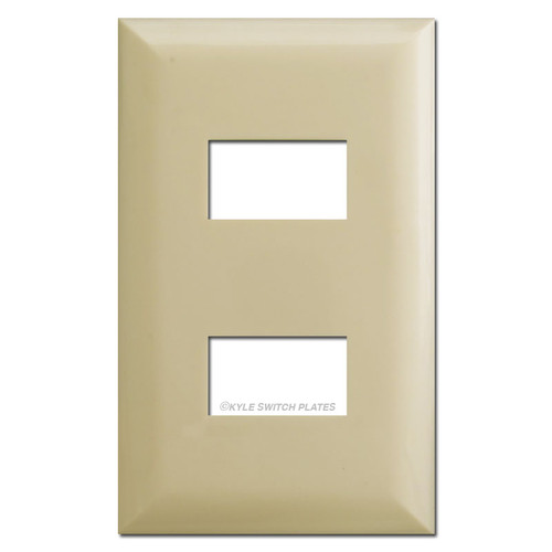 Touch-Plate 2 Button 5000 Series Low Volt Wall Plates - Ivory