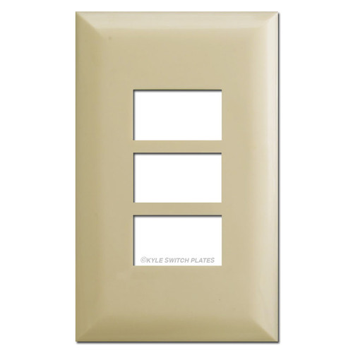Touch Plate 5003 Low Voltage Wall Plate Covers - Ivory