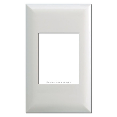 Touch-Plate Classic Series Single Gang Wall Plates - White