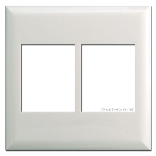 Touch-Plate Classic Series Two Gang Low Voltage Switchplates - White