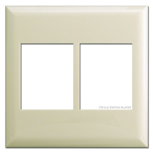 Touchplate Classic Series Double Gang Low Volt Plate Covers - Almond