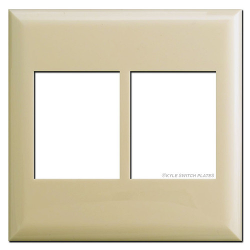 Touch Plate Classic Series Two Gang Low Voltage Wall Plates - Ivory