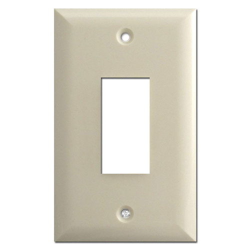 Touch-Plate Genesis Single Button Low Voltage Switch Plates - Almond