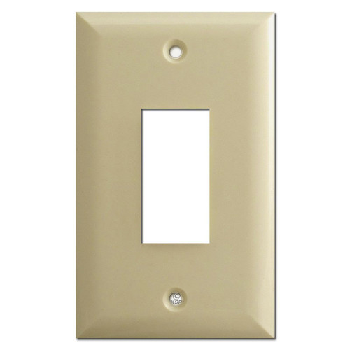 Touchplate Genesis Series 1 Button Low Volt Wall Switch Cover - Ivory