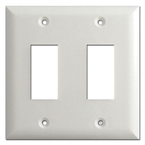 Touchplate Genesis Low Voltage Switch Plates for 2 Buttons - White