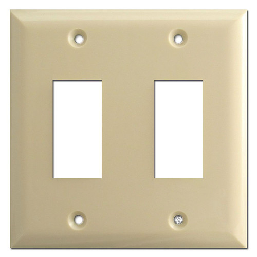 Touch Plate 2 Switch Genesis Low Voltage Wall Plates - Ivory