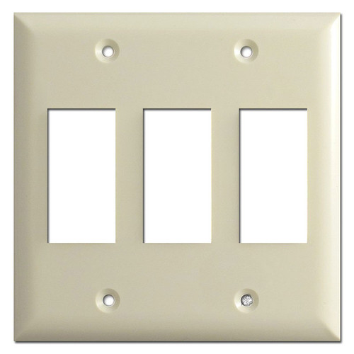 Touch-Plate Genesis Low Voltage 3 Switch Plate Covers - Almond
