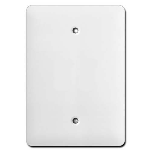 Long Wider One Blank Wall Plates - White