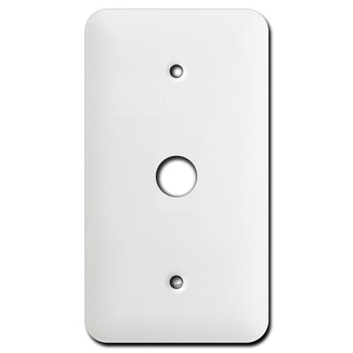 Long Single Range Receptacle Wall Cover Plates - White
