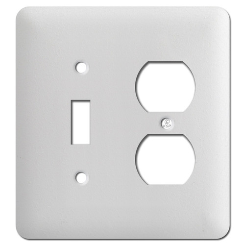 Taller One Toggle One Duplex Cover Plates - Textured White