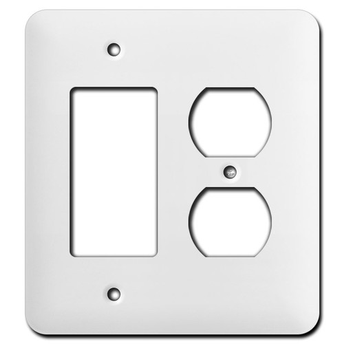 Long Single GFCI Single Duplex Receptacle Wall Plates - White