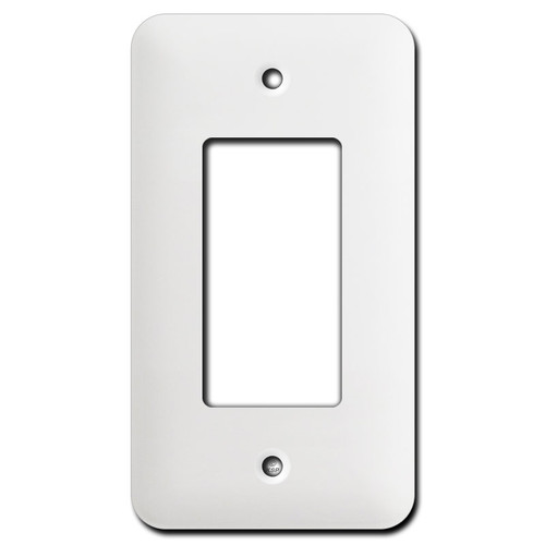Long Single Decora Switch Plates - White