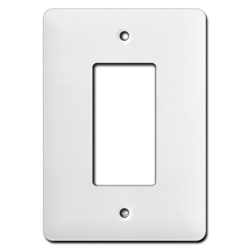 Long Wider Single Decora Switch Cover Plates - White