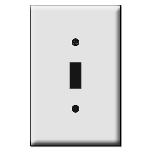 Quality Single Toggle Plastic Mid Size Wall Switch Plates