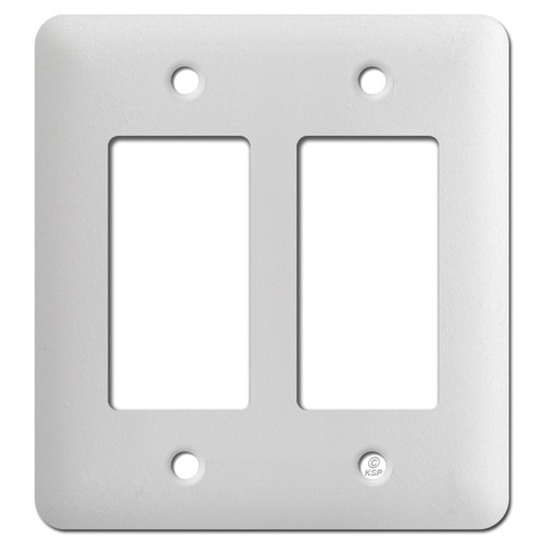 Taller Two GFI Cover Plates - Textured White