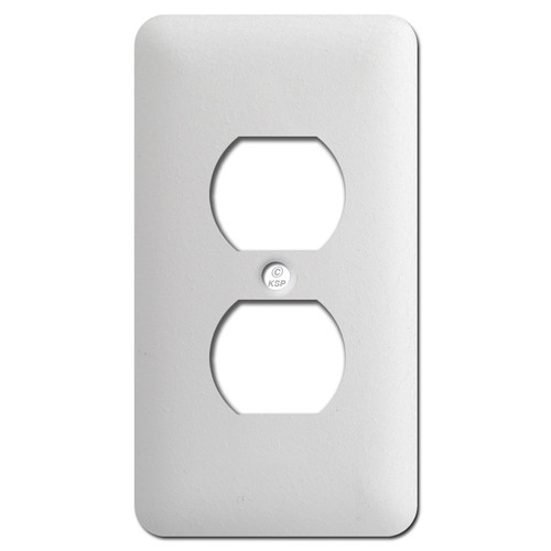 Long One Duplex Wall Cover Plates - Textured White