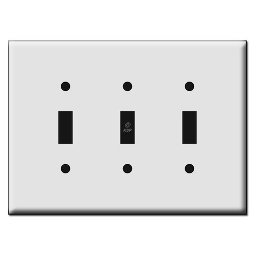 Quality Triple Toggle Plastic Mid Size Wall Switch Plates
