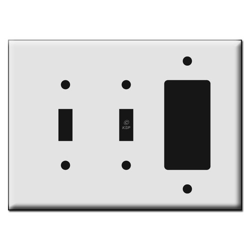 Quality Two Toggle Decora Plastic Mid Size Light Switch Wall Plates