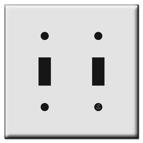 Double Toggle Plastic Light Switch Plates