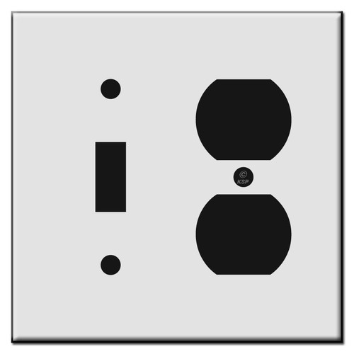 1 Toggle / 1 Duplex Outlet Receptacle Plastic Light Switch Plates